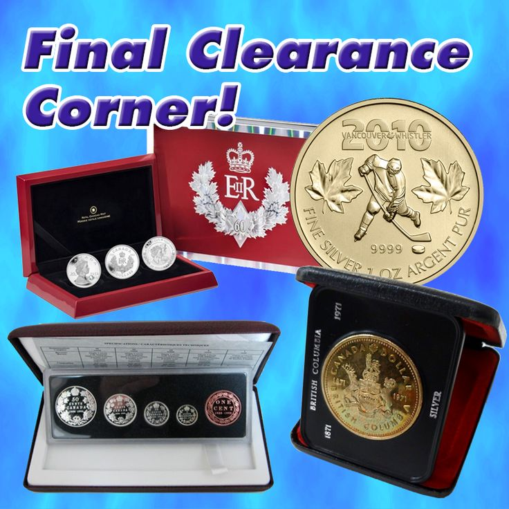 Keep an eye out on our final clearance corner! More coins get added there daily, so check it out and save!