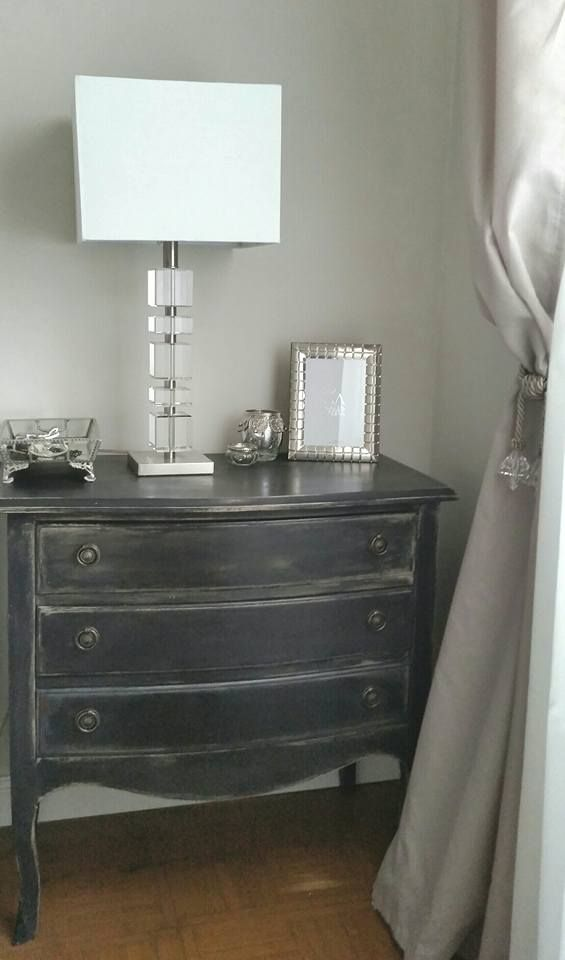 Black Commode Nightstand Milkpaint typewriter and fusion mineral paint algonquin