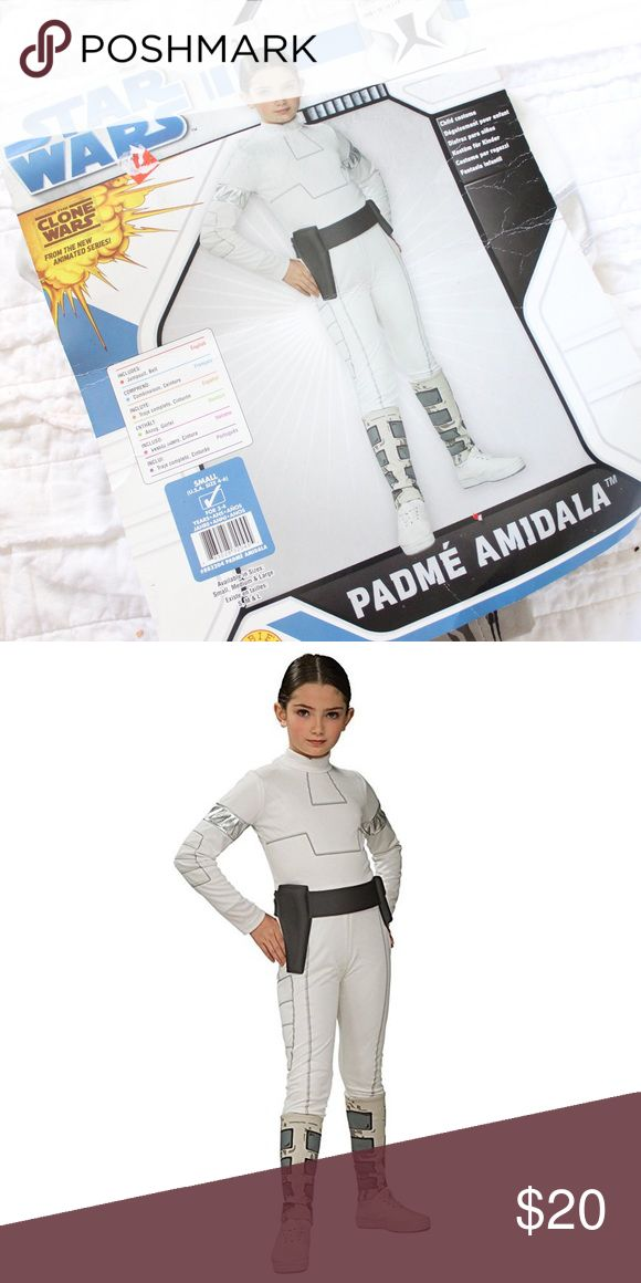 Children's Padme Amidala Star Wars Costume Padme Amidala costume for toddlers.  New in package.  Measurements available upon request.  All orders ship same or next business day! Star Wars Costumes