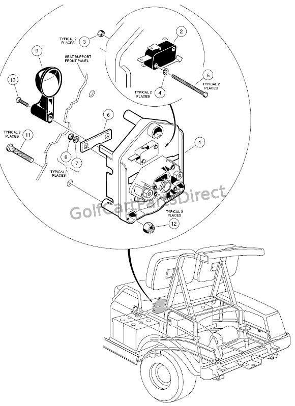 Forward Reverse Switch Golf Cart 36 Volt Club Car Golf Cart Golf Cart Repair Golf Cart Parts