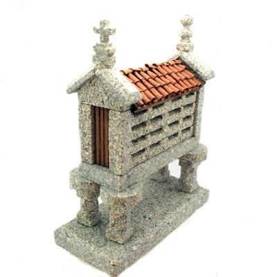 """Typical galician """"Hórreo"""" of Camino de Santiago de Compostela in Galician granite handcrafted. Tax free $57.90"""