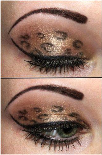 animal print eye makeup.