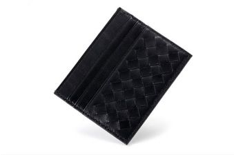 Black Colour Quilted PU Women Cardholder