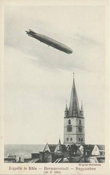ZEPPELIN IN SIBIU 1929