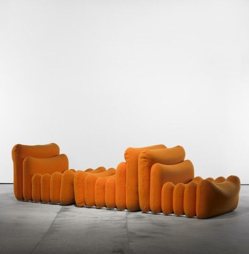 Joe Colombo; 'Additional-System' Seating for Sormani, 1967.