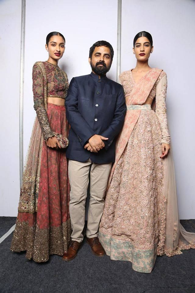 Sabyasachi Mukherjee - Indian Couture Week 2014 - Berry and pastel lehengas - Indian Couture #thecrimsonbride