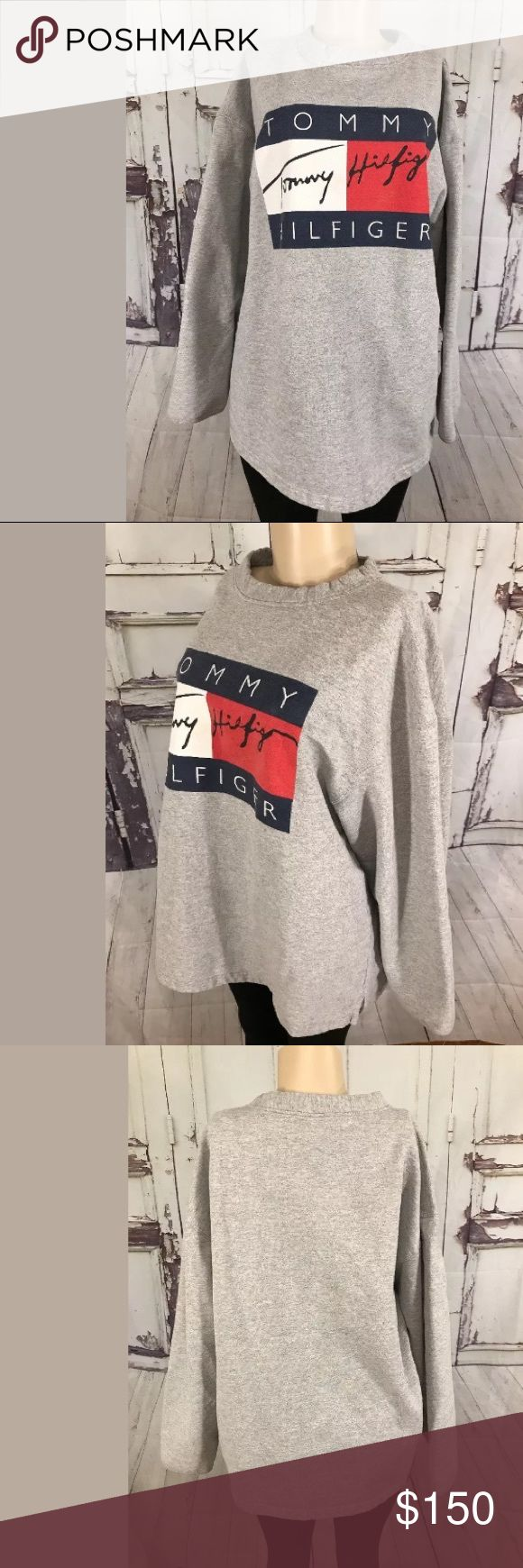 Tommy Hilfiger XL Big Flag Logo Sweatshirt Tommy Hilfiger
