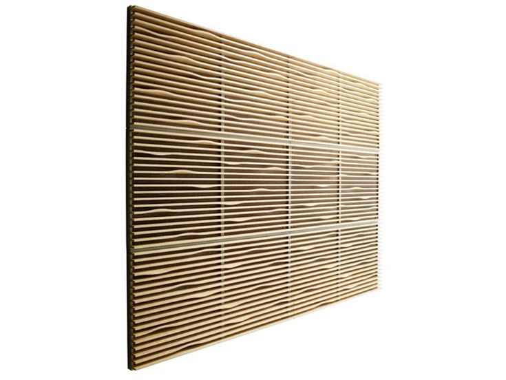 Wall Sound Insulation Material : Sound insulation and absorbing panel in wood