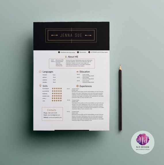 cv template   cover letter template   reference letter template   modern theme      professional