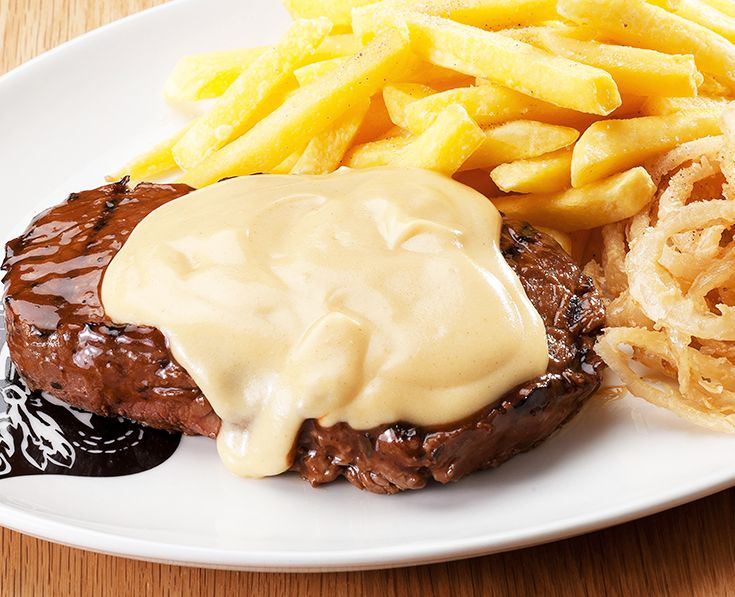 Cheesy Mustard Steak: Rump or Sirloin topped with Dijon mustard-infused cheese sauce. https://www.spur.co.za/menu/steaks/