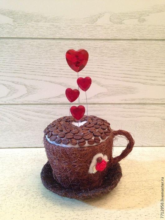 капучино красное сердце оригинальный подарок на день святого Валентина подарок…
