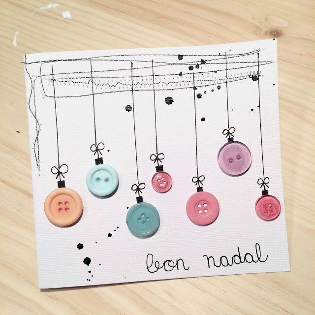 Tarjetas de Navidad Con Botones (13)