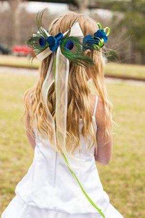 Peacock flower girl - Brides of Adelaide