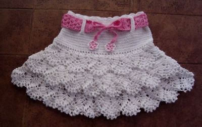 Crochet Knitting Handicraft: Crochet skirt for girls