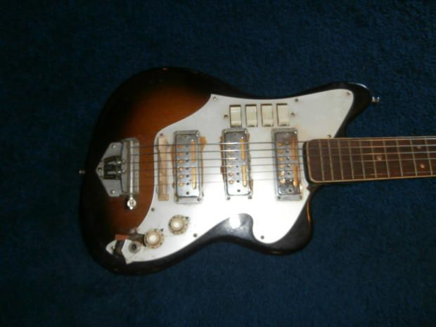 134 best images about guitars models gretsch and 1960s vintage 1960 s audition teisco three gold foil pickup electric