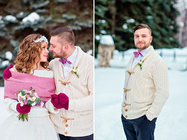Розово-сиреневый блеск зимней свадьбы (Полина и Петр)