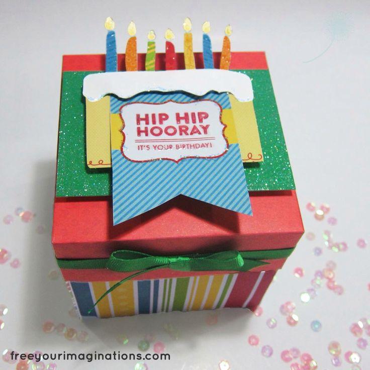 Birthday explosion box for 1 year old boy