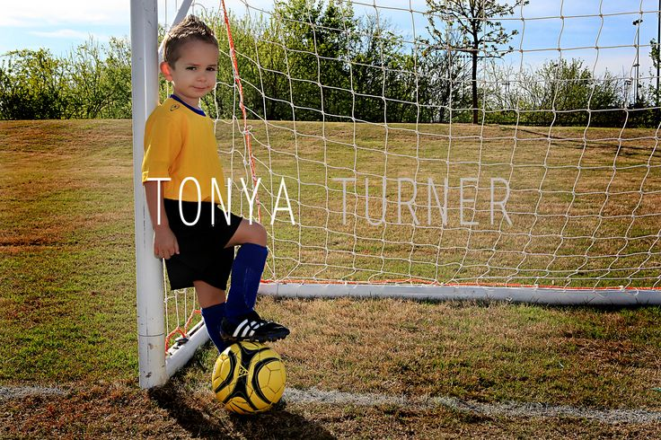 soccer boy pose