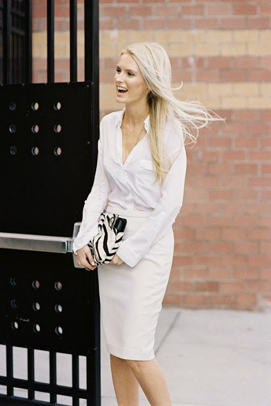 All white street styling