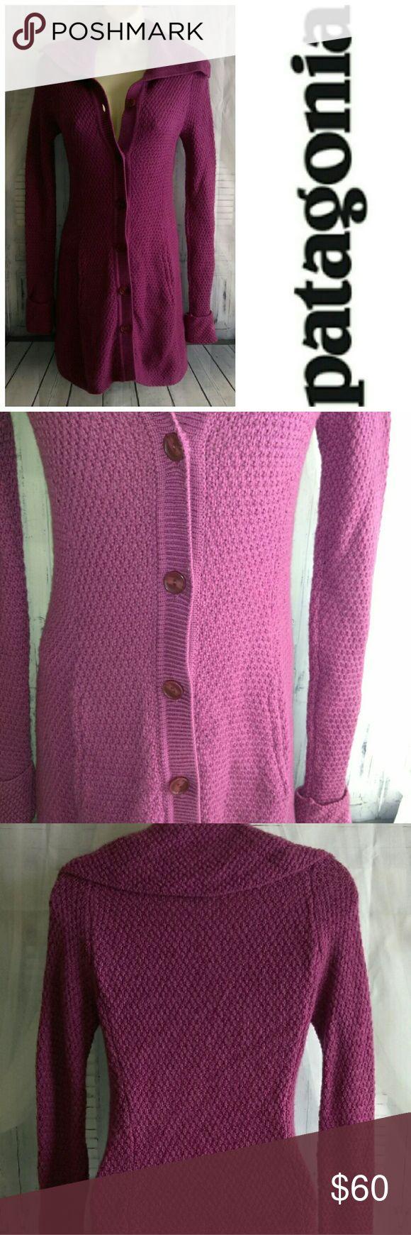 Long Knit Button Cardigan Sweater 100% Merino Wool long sweater coat Patagonia Sweaters Cardigans