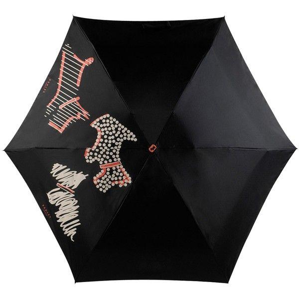 Radley Fleet Street Umbrella, Black ($32) ❤ liked on Polyvore featuring accessories, umbrellas, radley, radley umbrella and logo umbrella