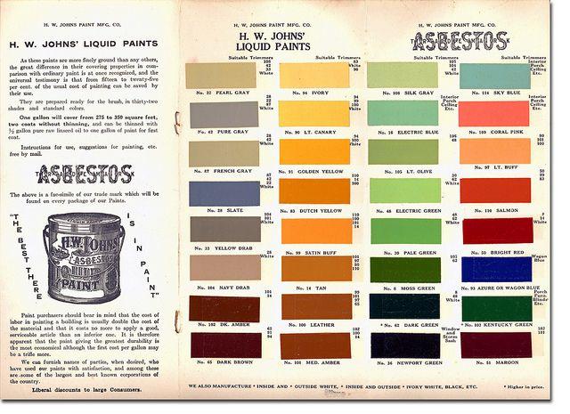 19th century paint color brochure   Colors   Pinterest