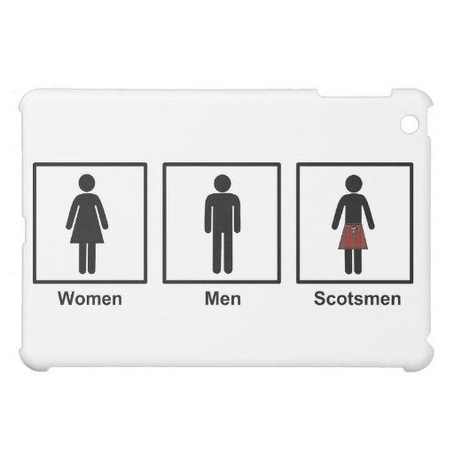 Women, Men, Scotsmen Humorous Toilet Signs Case For The iPad Mini