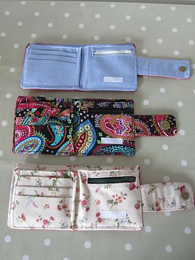 Wallets <3 these! I could do them in animal prints for the girls!!
