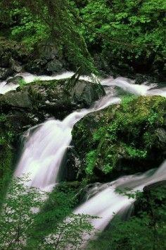 Sol Duc Falls, stunning year-round falls!