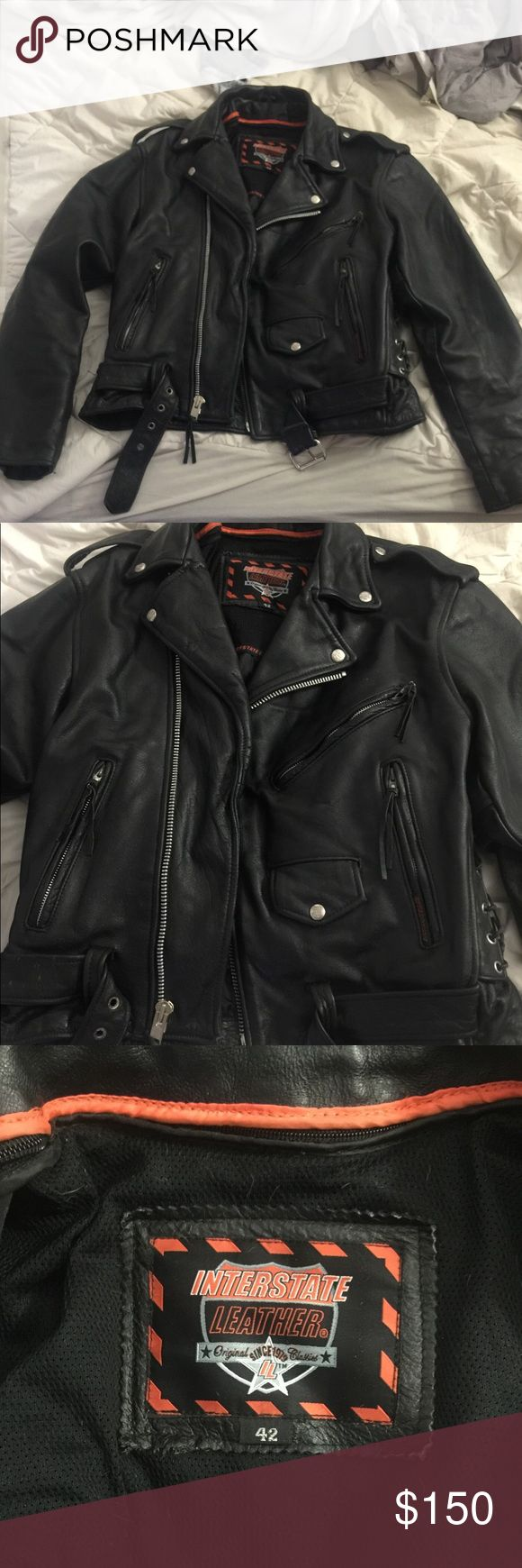 Interstate Leather Motorcycle Jacket Leather Motorcycle Jacket Motorcycle Jacket Jackets [ 1740 x 580 Pixel ]