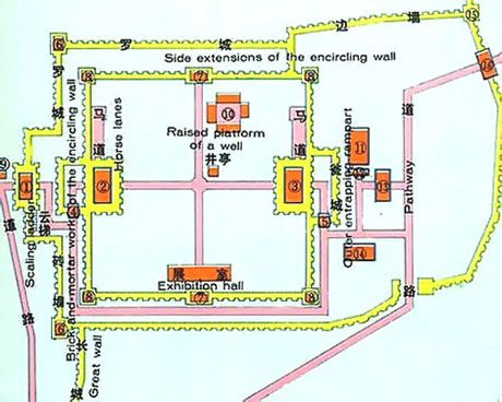 Jiayuguan Pass, Great Wall Map