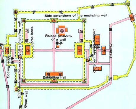 Jiayuguan Pass, Great Wall Map