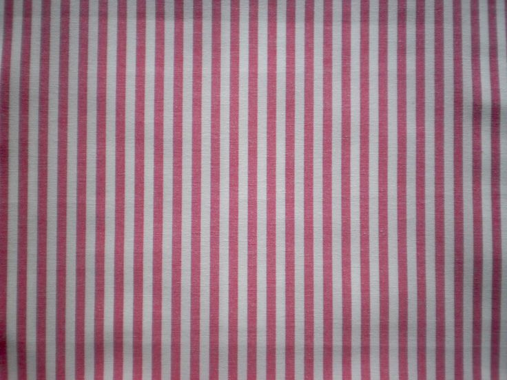 Cotton Stripe Fabric in Mid Pink Colour - Budget range. Great value stripe. Ideal for cushions, blinds curtains and light upholstery