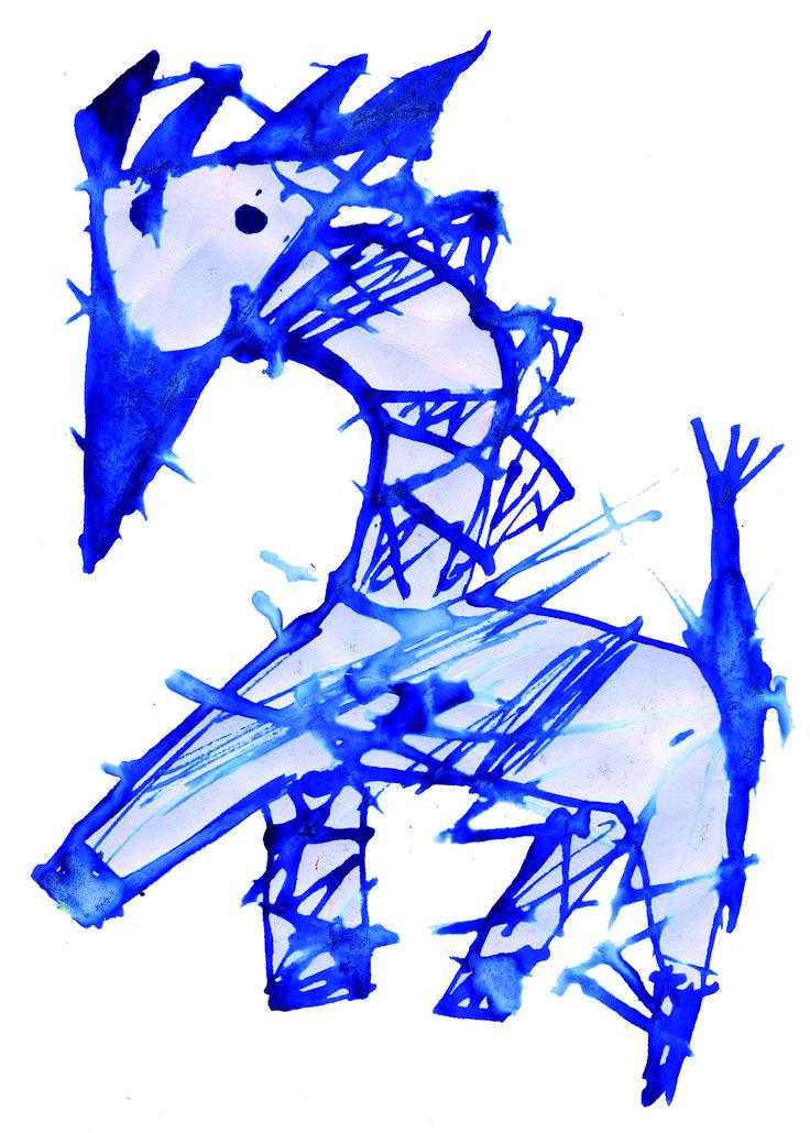 "Fusión de animales 02  ""Jirafa durante un trip"" en tinta china"