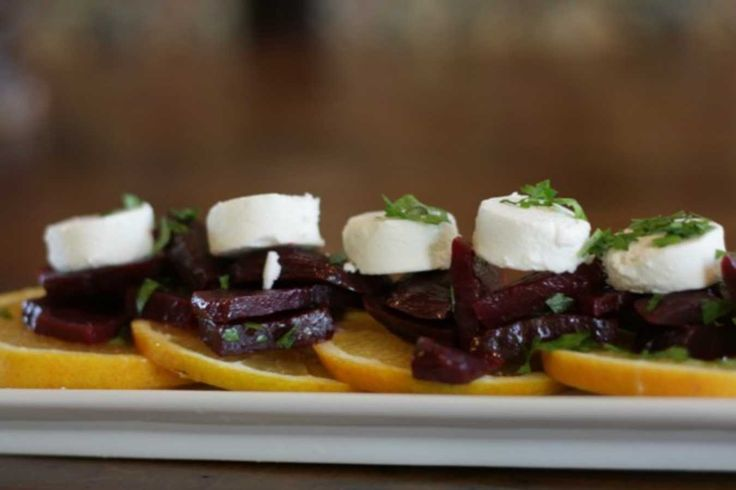 Beet, Orange and Goat Cheese Salad.