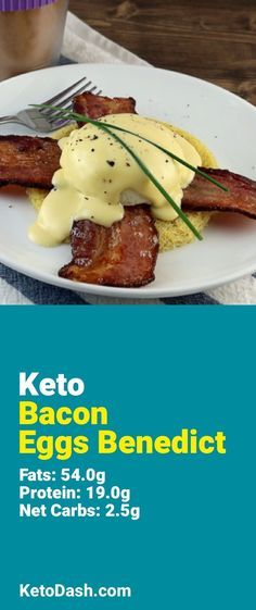 Trying this Bacon Eggs Benedict and it is delicious. What a great keto recipe that is gluten free.