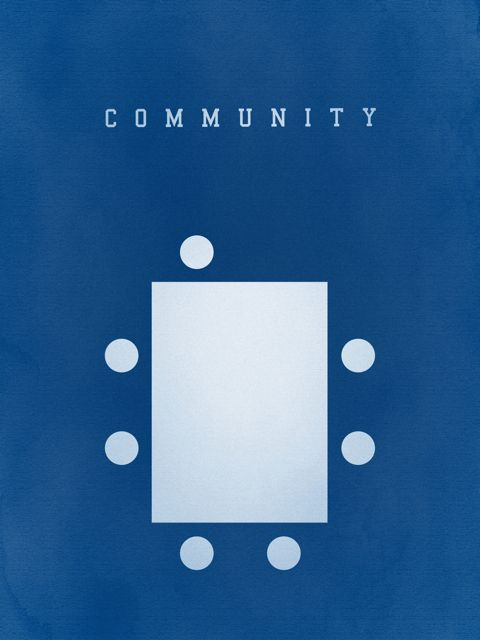 Haven't watched that much of the show, but this is a clever minimal community poster.