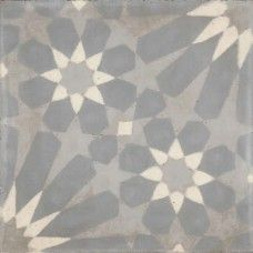 Moroccan Encaustic Cement Pattern Grey Tile gr11