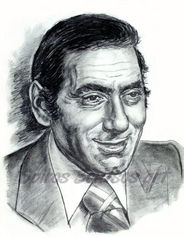 Στράτος Διονυσίου πορτραίτο με μολύβι / Stratos Dionysiou drawing. pencil
