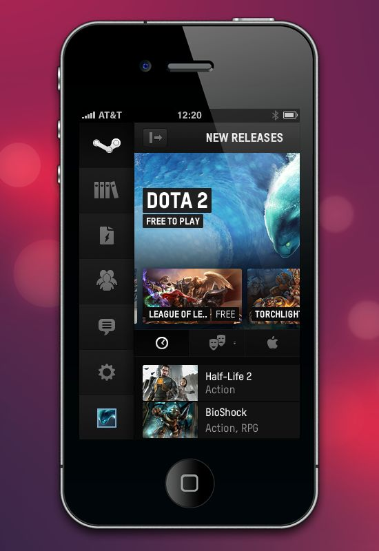 Steam UX redesign - Mobile
