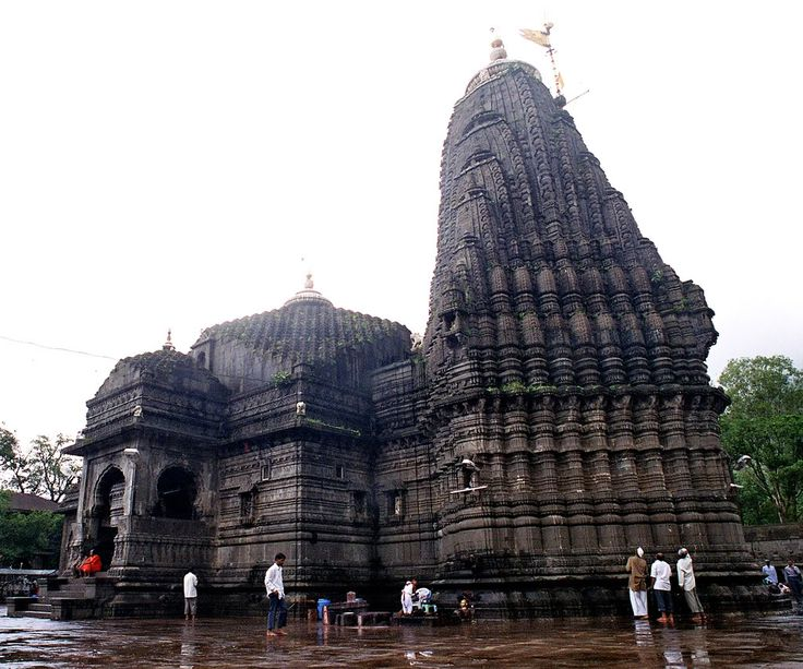 Trambakeshwar Temple (India)  Trambakeshwar is an ancient Hindu temple in the town of Trimbak, in the Nashik District of Maharashtra. It is located at the source of the Godavari River, the longest river in peninsular.