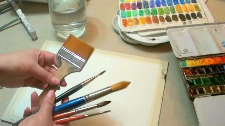 Curso de acuarela Qué usar para pintar a la acuarela