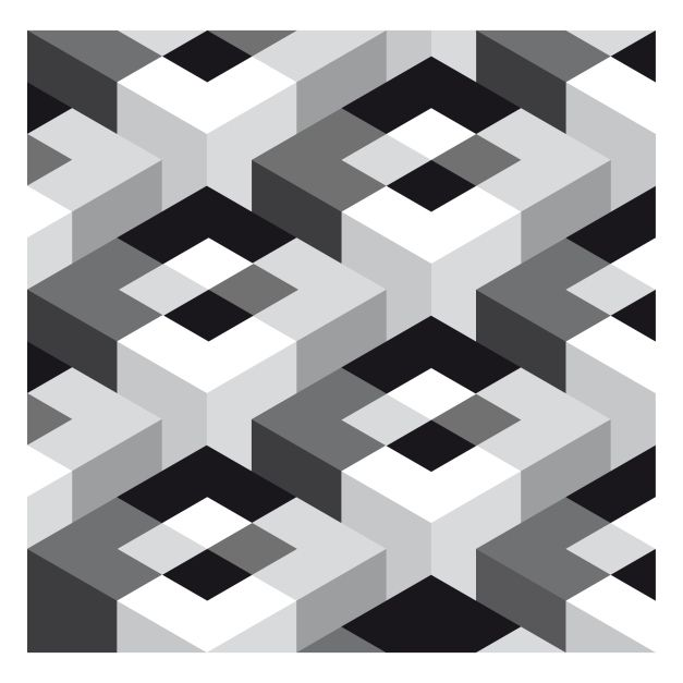 17 best images about op art on pinterest graphics helen for Geometric illusion art