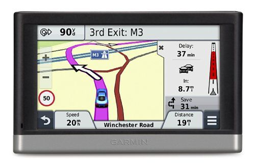 """Garmin nuvi 2548LMT-D 5"""" Sat Nav with UK and Western Europe Maps, Free Lifetime Map Updates and Free Lifetime Digital Traffic Alerts    Easy to use bright 5"""" touchscreen sat nav includes preloaded street maps for 24 Western European countries including UK and Ireland,FREE Lifetime Digital Traffic"""