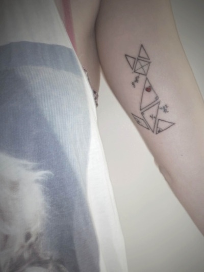 Love this tangram tattoo- perfect combination of cat love and math love!