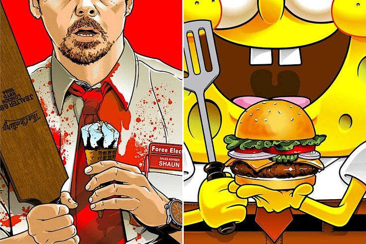 Joshua Budich malt Speisen und Getränke aus der Popkultur  Essen und Getränke sind ein essentieller Teil der Popkultur. Der Krabbenburger von Spongebob Schwammkopf, das obligatorische Cornetto aus den Filme...