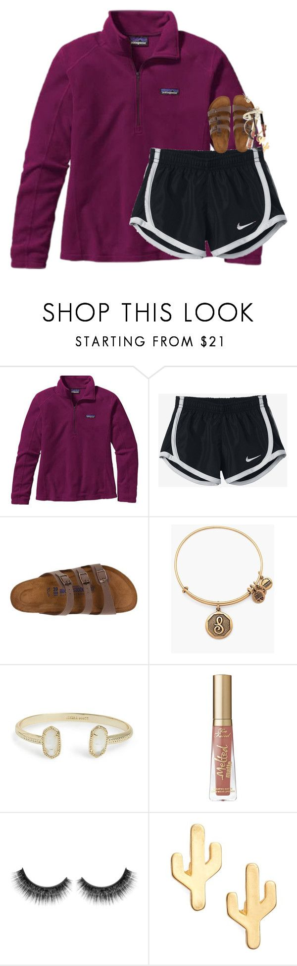 """""""I'm going to change my tag list a bit!"""" by classynsouthern ❤ liked on Polyvore featuring Patagonia, NIKE, Birkenstock, Alex and Ani, Kendra Scott, Too Faced Cosmetics, CAM and J.Crew"""