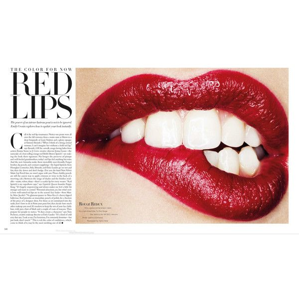Harper's Bazaar Editorial Red Lips, August 2013 Shot #1 - MyFDB ❤ liked on Polyvore featuring makeup, backgrounds, lips, text, pictures, magazine, fillers, quotes, editorials and phrase