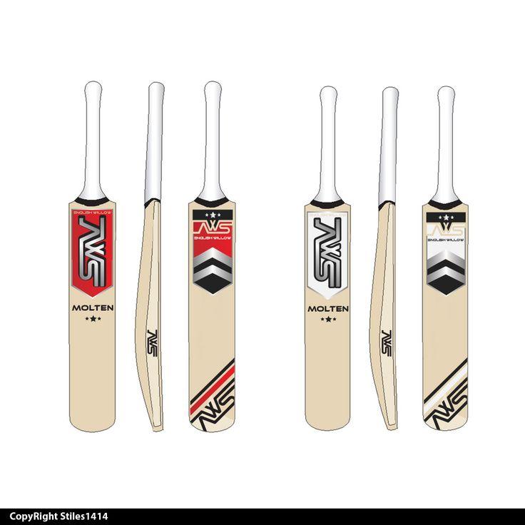 Sticker Design by stiles1414 for Cricket Bat #cricket #logo #design #DesignCrowd #sport