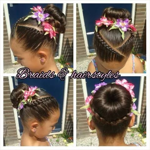 @abbyrocha4 look para que se las hagas a Jayne!!  Pretty Cornrows And Buns - http://www.blackhairinformation.com/community/hairstyle-gallery/kids-hairstyles/pretty-cornrows-buns/ #kidshairstyles
